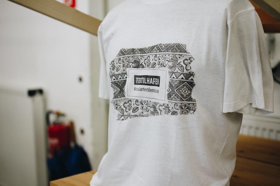 Selbstbedrucktes T-Shirt des Berliner TEXTILHAFEN