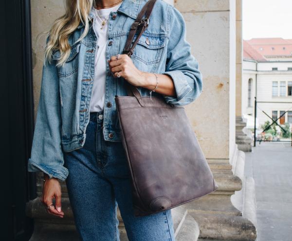 Leder Shopper Damen