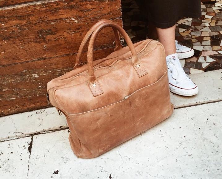 Kleine Reisetasche aus Leder