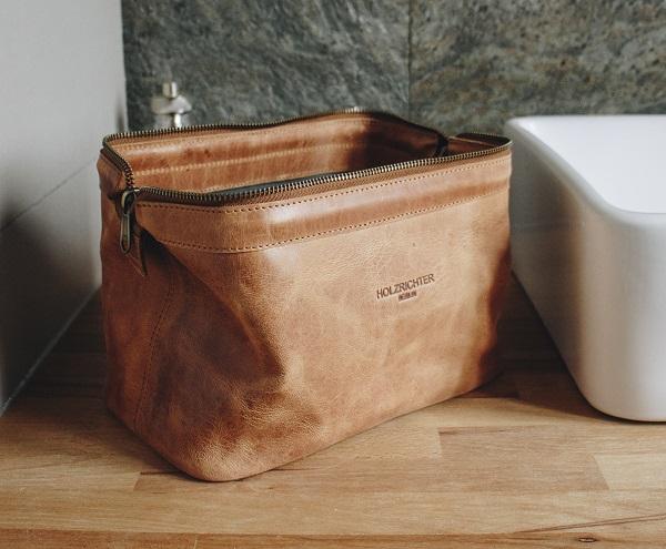 Hochwertige Leder Kulturtasche kaufen