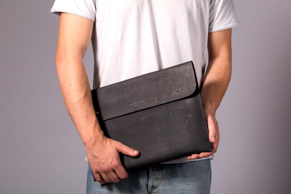 Macbook Tasche aus Leder
