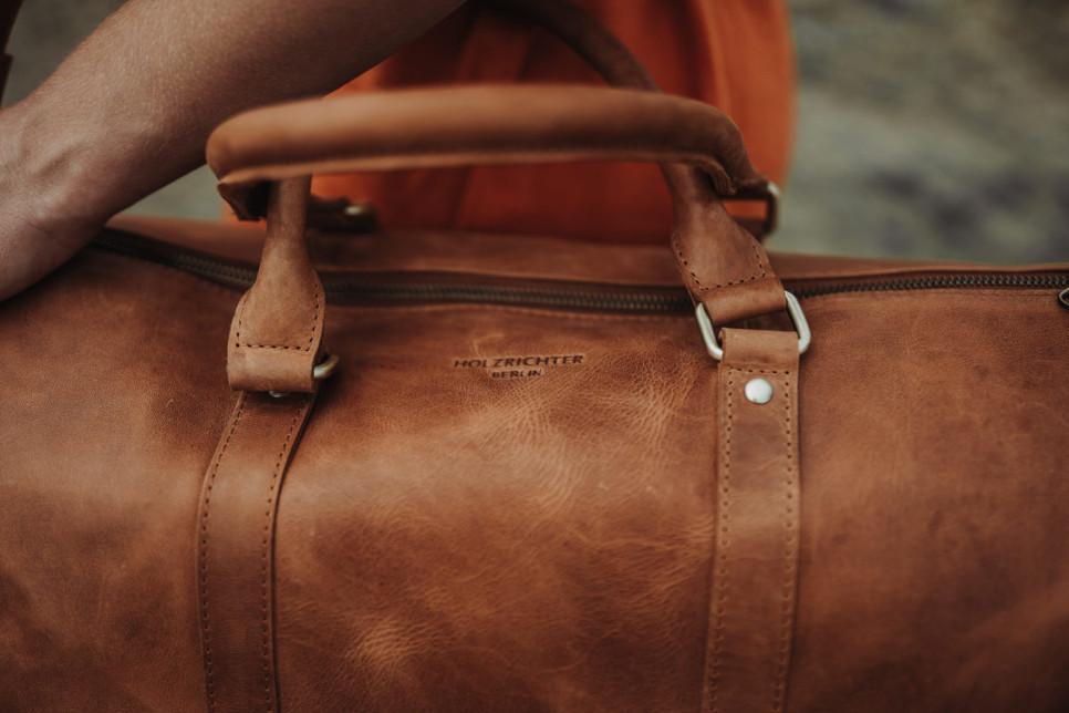 Naturleder Tasche Weekender