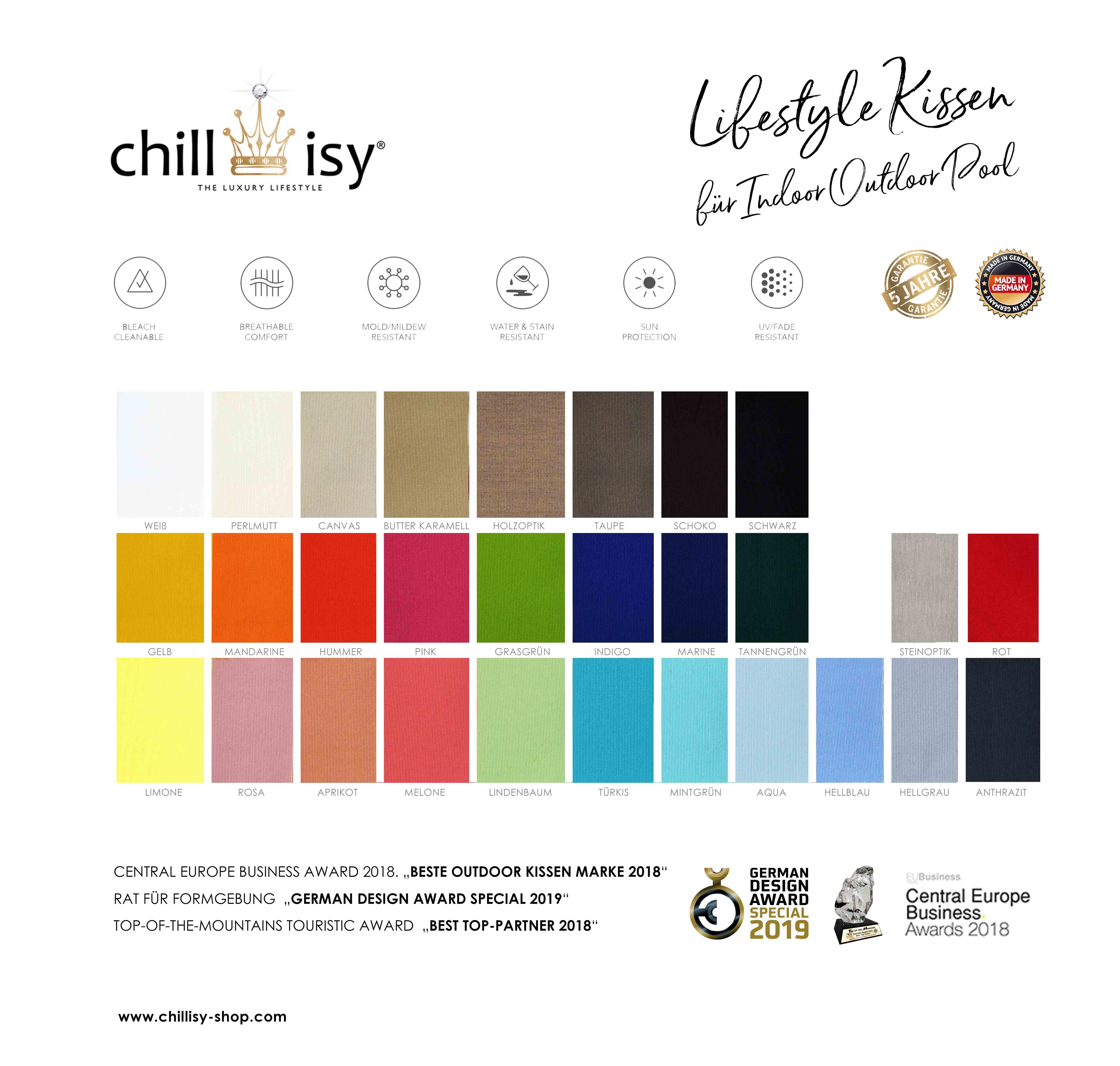 Pool Sitzsack Farben | Poolsack Shop Chillisy