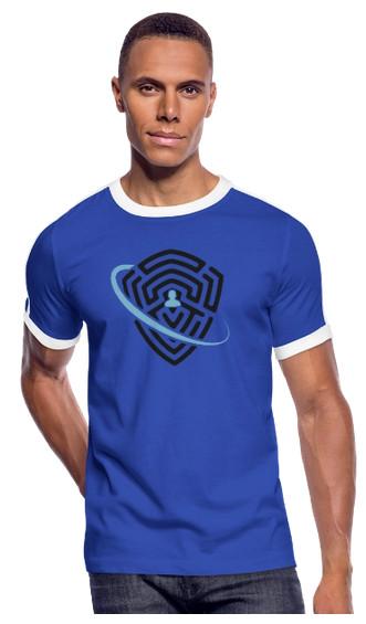 Männer T-Shirt Schutz Symbol