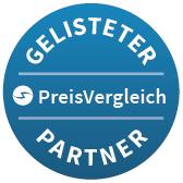 Gelisteter Partner bei PreisVergleich.eu