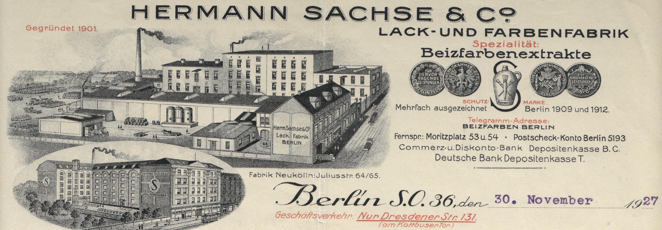 Hermann Sachse Fabrik in Berlin Kreuzberg