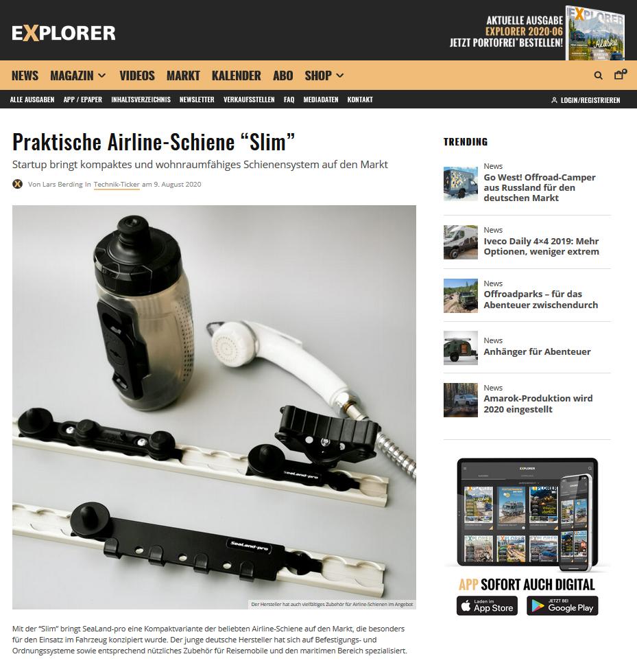 SeaLand-pro im Explorer Magazin