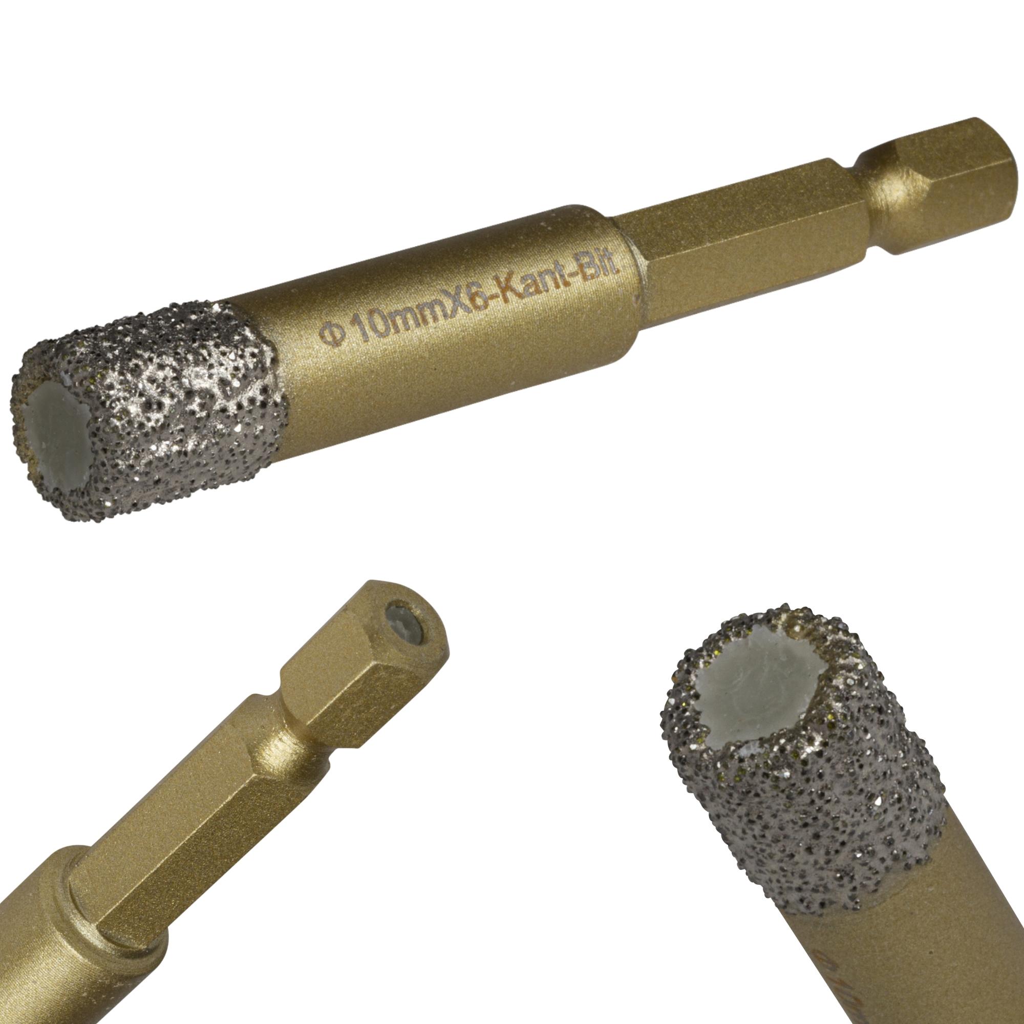 Diamantbohrkrone für Fliesen mit 6-kant-Aufnahme