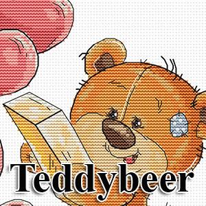 borduurpakketten met telpatroon - teddyberen