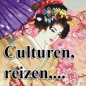 borduurpakketten met telpatroon - culturen, reizen,...