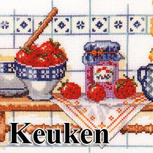 borduurpakketten met telpatroon - keuken