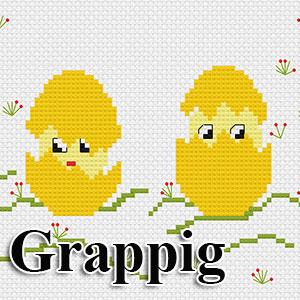 borduurpakketten met telpatroon - grappige thema's