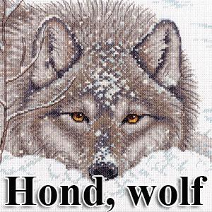 borduurpakketten met honden en wolven