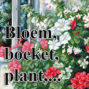 borduurpakketten met telpatroon - bloemen, boeketten, planten