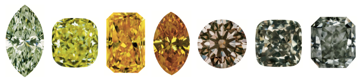 Kulsen + Hennig Natural Fancy Coloured Diamonds