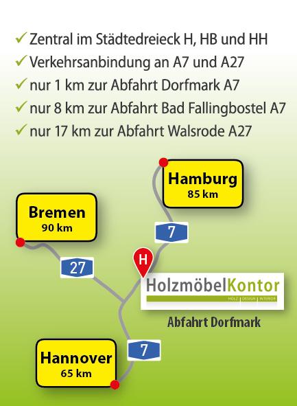 Anfahrt holzmoebelkontor.de