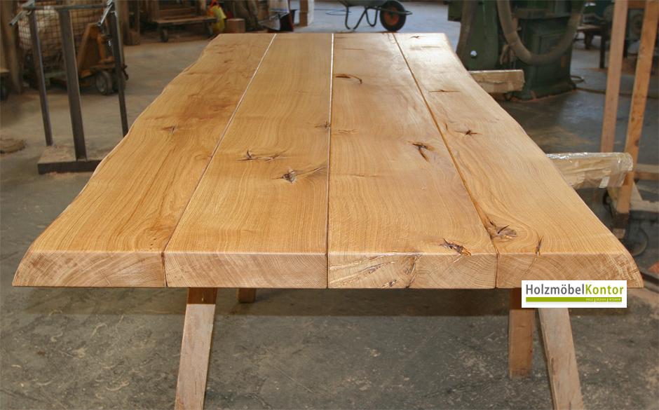 Tischplatte massivholz eiche  Tischplatten nach Maß → holzmoebelkontor.de