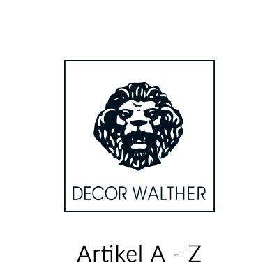 Decor Walther Alle Artikel Übersicht A - Z