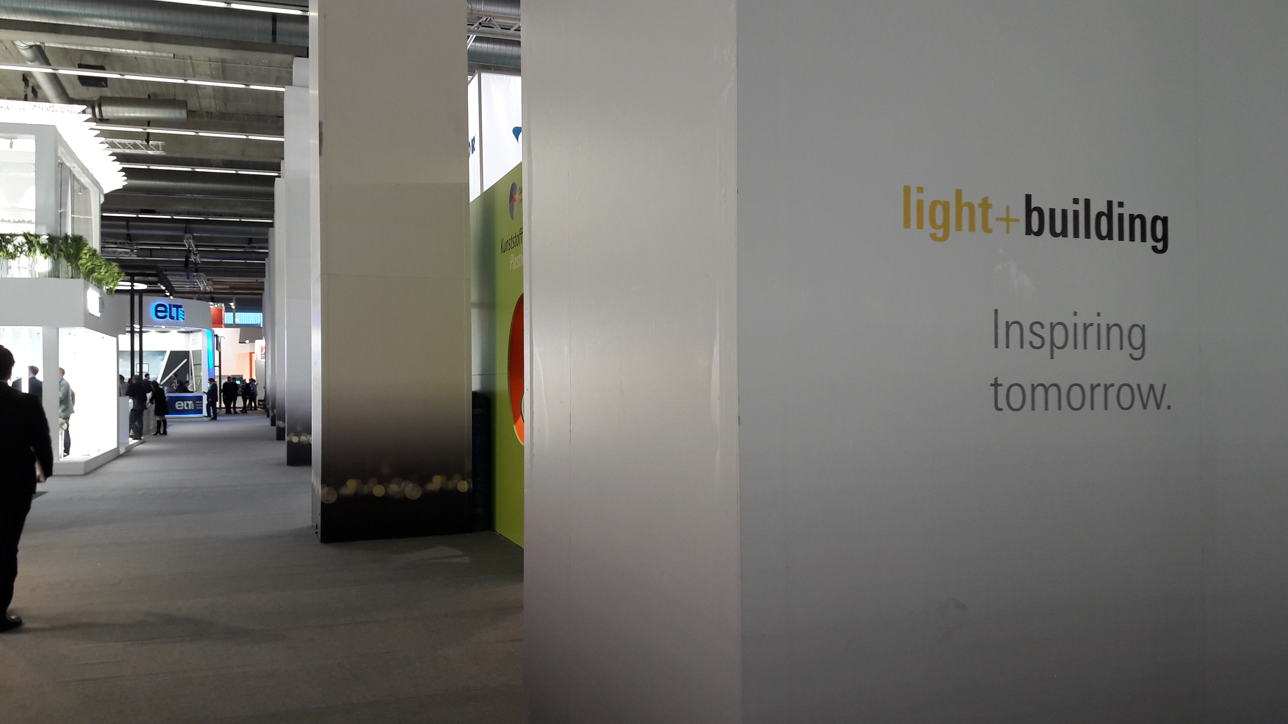 Lange Gänge auf der Light + Building