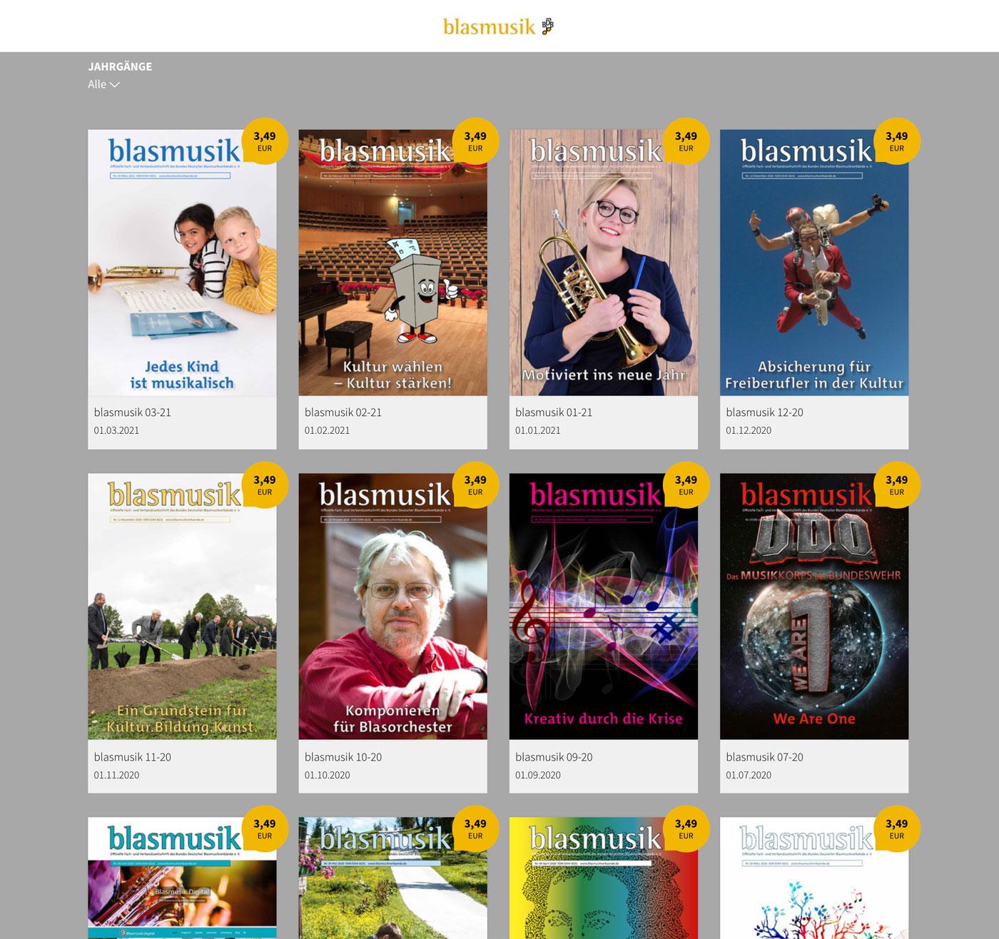E-Paper Kiosk Zeitschrift blasmusik
